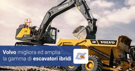 Volvo migliora ed amplia la gamma di escavatori ibridi.