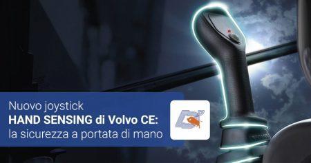 Il nuovo joystick HAND SENSING di Volvo CE: la sicurezza a portata di mano