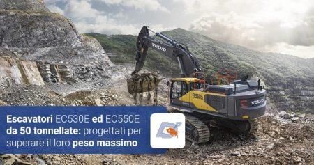Escavatori EC530E ed EC550E da 50 tonnellate: progettati per superare il loro peso massimo