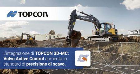 L'integrazione di TOPCON 3D-MC: Volvo Active Control aumenta lo standard di precisione di scavo
